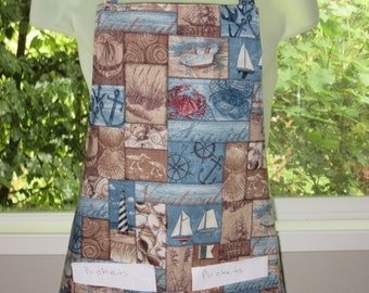 aprons for men - aprons for women - a seaside view