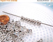 50% Off 25 pcs Silver Bail Spacer beads with loop, 8x4x3mm, F127