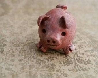 Day of the Dead matchbox shrine figure folk art Chanchitos 3 Legged Good Luck Pig