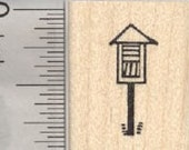 Tiny Little Library Rubber Stamp A29226 Wood Mounted
