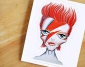 Ziggy Stardust Die-cut Vinyl Sticker Decal - Alien Bowie Sketch