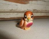 Vintage Bird, Vintage Miniature Bird, Miniature Porcelain Bird, Bird Figurine