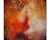 Small Abstract Textural Original Painting, Heavy Textured,Red Blue abstract,small gift,blue painting,original gift,Red painting,red blue art