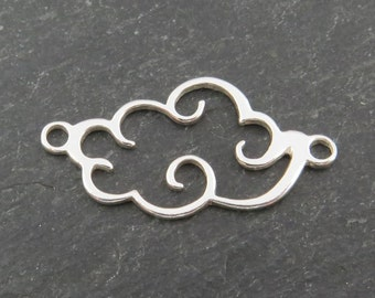 Sterling Silver Cloud Connector 25mm (CG7665)