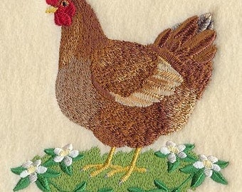 Chicken Hen Rhode Island Red Kitchen Towel
