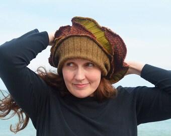 Scraps of autumn Tam  franken-hat slouchy beanie 67