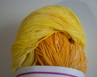 Hand-Dyed Yarn in Summertime Colourway Sock Yarn Superwash Wool/Nylon Tootsie Base