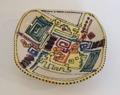 Modern Abstract  Stoneware Plate