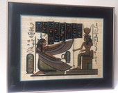 Egyptian Papyrus Painting: The Coronation of Queen Nefertiti