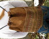 Cinch Sack - BackPack - Drawstring Bag - Upcycled Materials - earth tones with shine