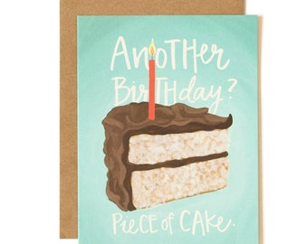 Another Birthday? Piece of Cake Illustrated Card // 1canoe2