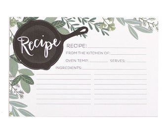 Herb Recipe Cards Set of 15 // 1canoe2 // Hand Illustrated