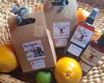 Dog Gift Set Bag ~ Dog Shampoo & Fur Refresher