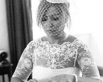 CAMILLA bridal lace top whitelace top white lace blouse bridal bolero jacket wedding bolero