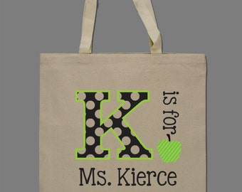 Personalized Teacher Tote Bag Teacher Gift