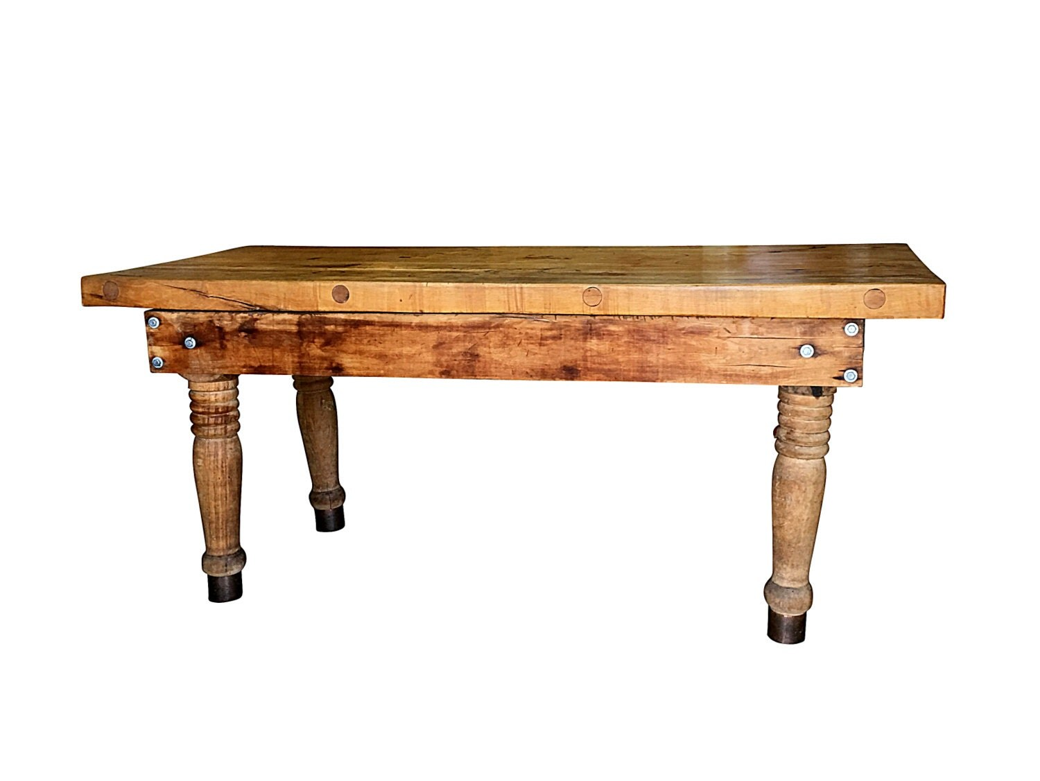 Old Butcher Shop Table Modern Farmhouse Dining by BarnOwlGoods