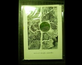 Tree Book #54 + Travel Book = Book Set with   a No-Repeat Laser Print & a Postcard