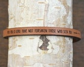 psalm 9:10 - adjustable leather bracelet  (additional colors available)
