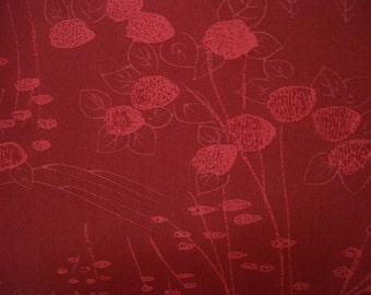 Vintage kimono S112, silk, currant
