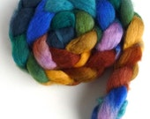 BFL Wool Roving - Hand Painted Spinning or Felting Fiber, Simpler Place
