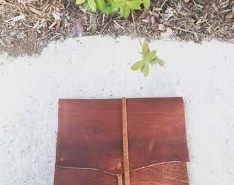 Textured Leather Wallet/Clutch