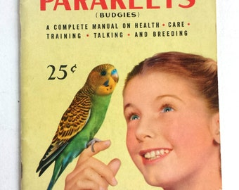 Everything about Parakeets Vintage Book