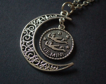 Astrology Gemini moon necklace
