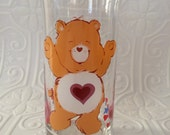 Care Bears Tenderheart Bear 1980s drinking glass