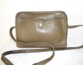 sale Coach Bonnie Cashin era top zip satchel bag cross body  purse vintage  mod 037-2114 thick glove tanned leather sage green collectible