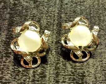 Vintage Faux Opalite Earrings