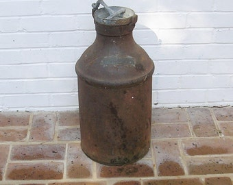 Vintage Metal Milk Can Cream Can 10 Gallon Milk Can