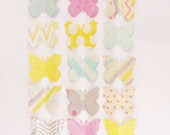 Laglio - decorative push pins / thumb tack or memo clips - large paper butterflies - made to order