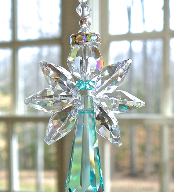 Crystal Hanging Angel For Car Or Home Guardian Angel
