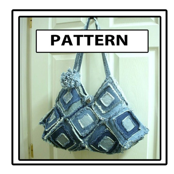 Square Blue Jean Denim Purse Pattern