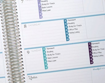 Scallop Checklists - Top Three Planner Stickers Printable - Instant Download - to fit your Erin Condren