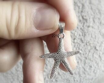 sterling silver starfish pendant, sea, ocean , sea star , nature, silver pendant, star, water, fish, man, men, woman,woman