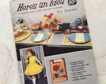 Here's an Idea Dennison Book of Crafts and Party Decorations for Summer 1957