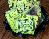 TIA recycled Boy Toy music cover coasters record bowl