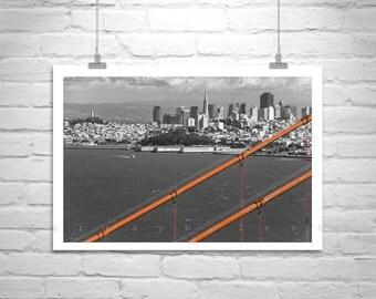 Golden Gate San Francisco Picture, Black and White, Fine Art Photography, California, Cityscapes, Murray Bolesta, Urban Photography