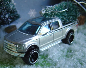 Ford F150 Truck with Christmas tree ornament