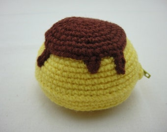 FREE SHIPPING Crochet Coin Small Purse - Pudding