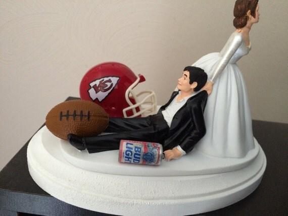 kansas city chiefs cake topper bridal funny humorous wedding. Black Bedroom Furniture Sets. Home Design Ideas