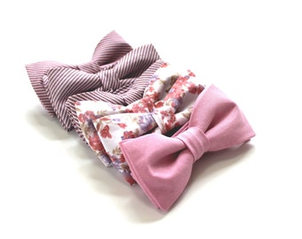 Blush Bow Ties - Pink Wedding Ties - Pink Bow Ties - Wedding Bow Ties - Mismatched Bow Ties - Mismatched Ties - Wedding Ties - Pink Bowties