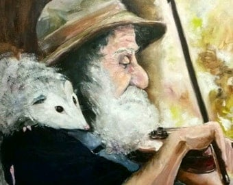 The Fiddler and his Opossum