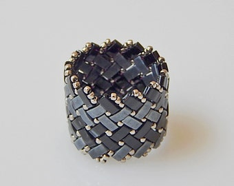 Wide Basket Weave (Classic) Ring