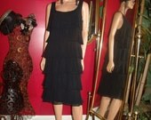 G.Gatsby   Black Flapper Dress   Adult 20s Theme Costume Size 16