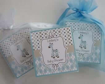 Baby Shower Favors, Baby Giraffe, Soap Favors, set of 10
