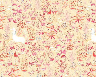 The Hit Parade - Tapestry in Peach by Lizzy House for Andover Fabrics - Cotton Lawn Fabric