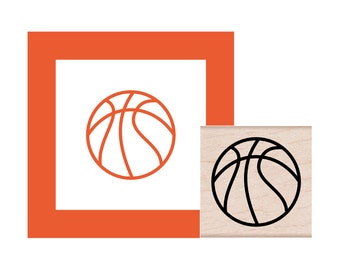 Basketball Rubber Stamp