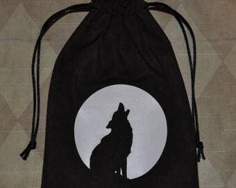 Wolf moon dice tarot bag